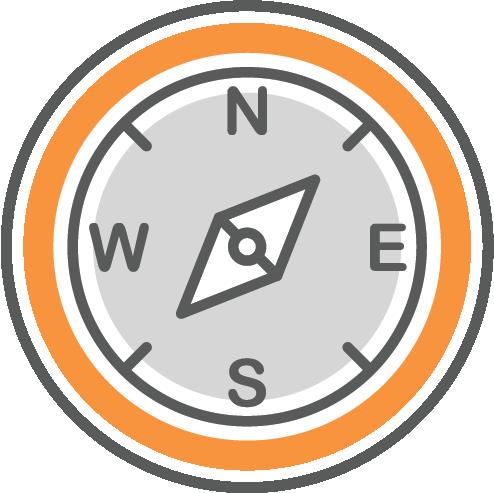 Compass symbolizing direction