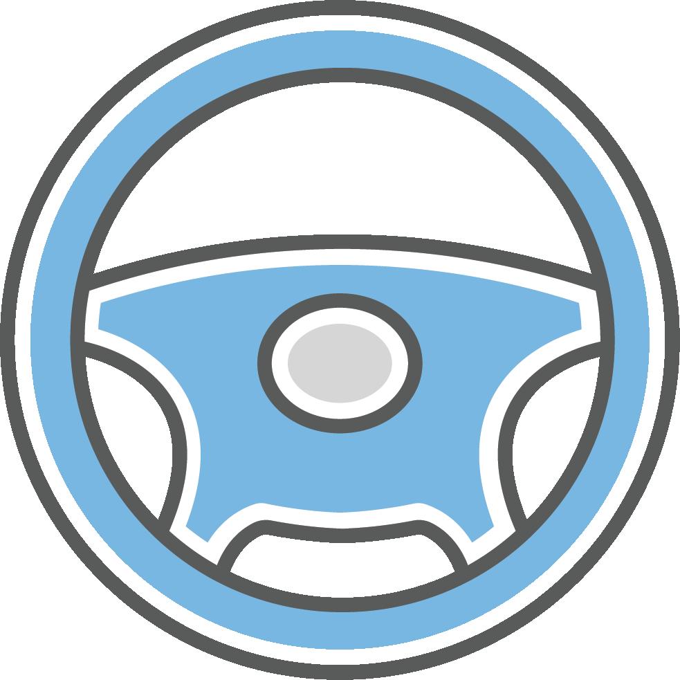 Steering wheel symbolizing control