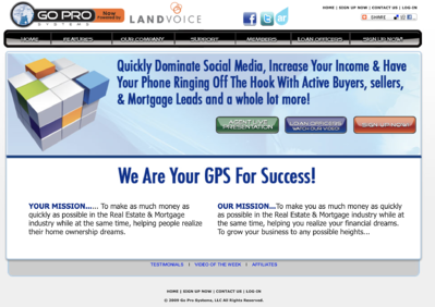 Old Go Pro Systems website